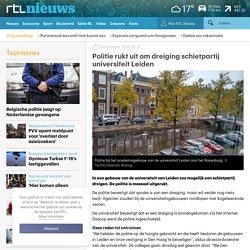 Politie rukt uit om dreiging schietpartij universiteit Leiden - RTL Nieuws