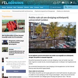 Politie massaal uitgerukt: dreiging schietpartij universiteit Leiden