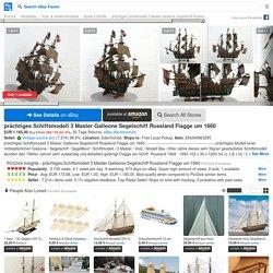 PRÄCHTIGES SCHIFFSMODELL 3 Master Galleone Segelschiff Russland Flagge um 1660 - EUR 1.185,00