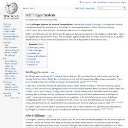 Schillinger System