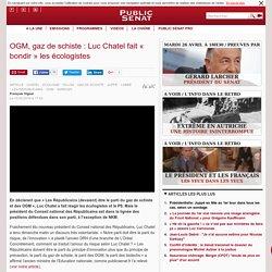 OGM, gaz de schiste : Luc Chatel fait « bondir » les écologistes