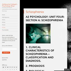 Ashbourne College's Psychology Blog