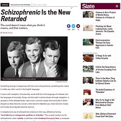 Schizophrenia definition and metaphor: Schizophrenic does not mean multiple personalities.