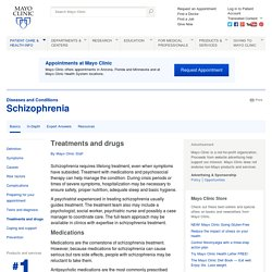 Schizophrenia Treatments and drugs