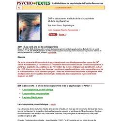 Schizophrénie et Psychanalyse (1)