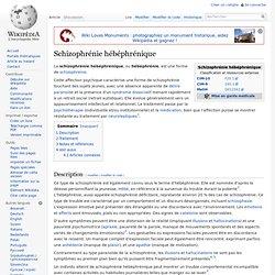 Schizophrénie hébéphrénique