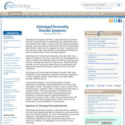 Schizotypal Personality Disorder - PsychCentral
