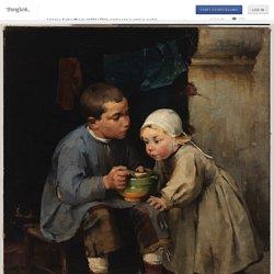 Helene Schjerfbeck (1881) Pikkusiskoaan ruokkiva poika