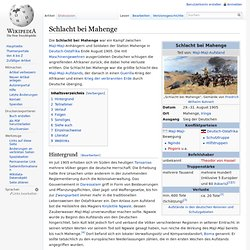 Schlacht bei Mahenge