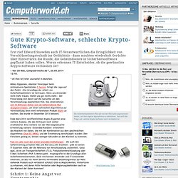 Gute Krypto-Software, schlechte Krypto-Software