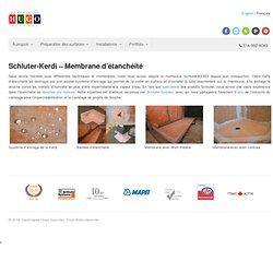 Imperméabilisation de douches - Schluter Kerdi - membrane étanchéité