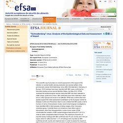 "Scientific Report of EFSA: ""Schmallenberg"" virus: Analysis of the epidemiological data and Impact assessment"