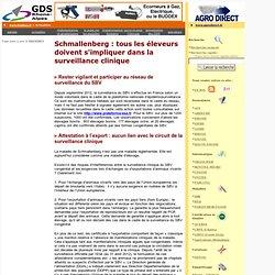 GDS RHONE ALPES 15/03/13 Schmallenberg : tous les éleveurs doivent s'impliquer dans la surveillance clinique