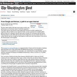 Google and Verizon co-ed in Wash Post
