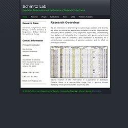 Schmitz Lab, genetics.uga.edu