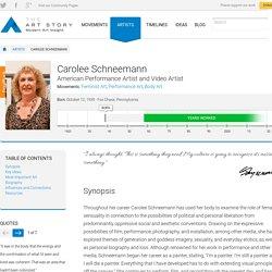 Carolee Schneemann Biography, Art, and Analysis of Works