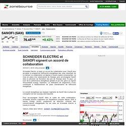 SCHNEIDER ELECTRIC et SANOFI signent un accord de collaboration