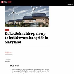 Duke, Schneider pair up to build two microgrids in Maryland