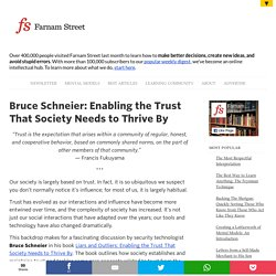 Bruce Schneier: Enabling the Trust That Society Needs to Thrive By