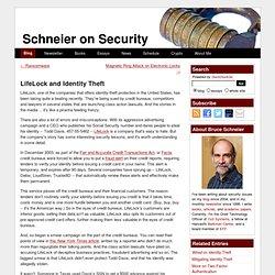 LifeLock and Identity Theft