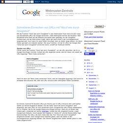 Schnelleres Einreichen von URLs mit Googlebot