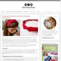 Kostenloses Schnittmuster: Handband mit Schleife für Babies, Kinder & Erwachsene