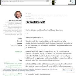Schokkend! – Jan Bontje CULTUUR