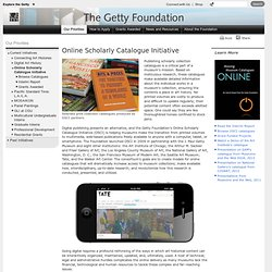 Online Scholarly Catalogue (Getty Foundation)