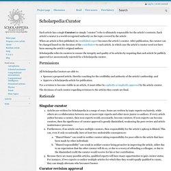 Scholarpedia:Curator