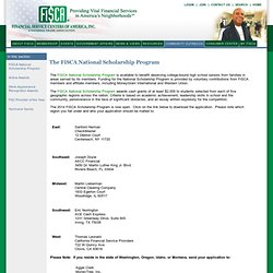 The FiSCA National Scholarship Program - Application Active Page
