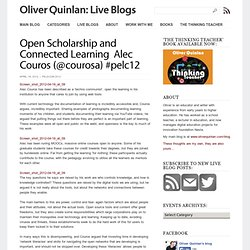 Open Scholarship and Connected Learning – Alec Couros (@courosa) #pelc12