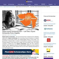 Gujarat Scholarship - Digital Gujarat scholarship 2019, Date, Eligibility