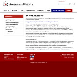 """american atheists essay The term """"fundamentalism"""" emerged in early twentieth century american protestantism after the publication of a series of twelve mass-produced booklets called the fundamentals (1910-1915) (numbers 33) organized by reverend a c dixon, these booklets presented the conservative stand of an."""