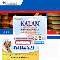 KALAM Scholarship Exam - Innovation Institute Jaipur