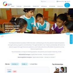Mahatma Gandhi Merit Scholarship