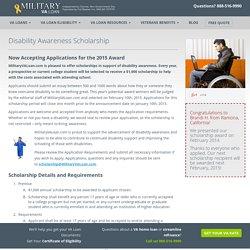 Disability Awareness Scholarship