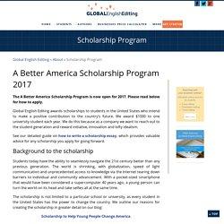 Scholarship Program - Global English Editing