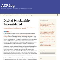 Digital Scholarship Reconsidered
