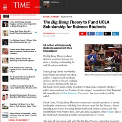 The Big Bang Theory to Fund UCLA Scholarship for Science Students