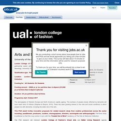 Arts and Dementia Care PhD Scholarship - University of the Arts London, London College of Fashion