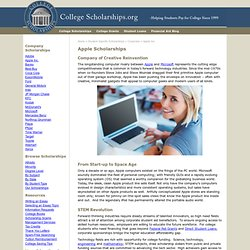 Scholarships from Apple In Money and MacBooks