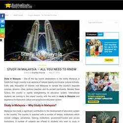 Study in Malaysia - Popular Malaysia University, Scholarships, Application