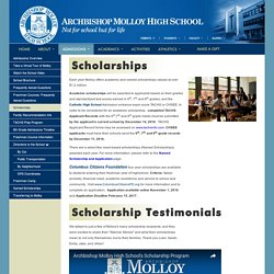 How to get Scholarships in Private High School - Archbishop Molloy High School