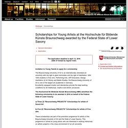 Scholarships - HBK Hochschule für Bildende Künste Braunschweig