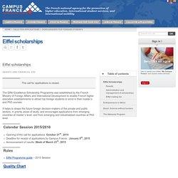 Eiffel scholarships