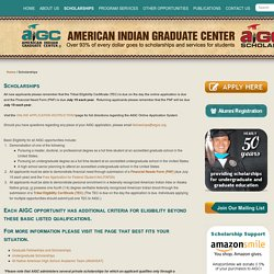 Scholarships - American Indian Graduate CenterAmerican Indian Graduate Center