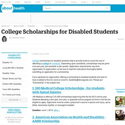 College Scholarships for Disabled Students