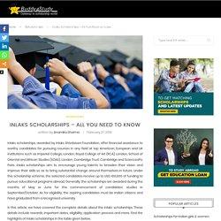 Inlaks Scholarships - Key dates, Awards, Eligibility, Application, Documents