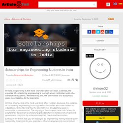 Scholarships for Engineering Students In India