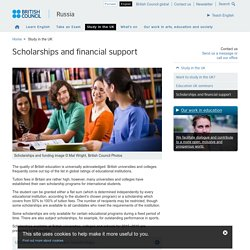 Scholarships and financial support
